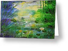 Water Lily Pond 1 Greeting Card
