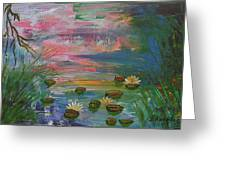 Water Lily Pond 2 Greeting Card