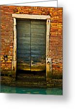 Water-logged Door Greeting Card