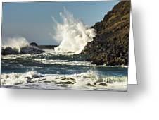 Water Meets Rock Greeting Card