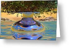 Water-mirror-urn Randm Yello Sky Glo Greeting Card