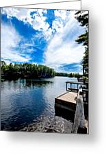 Water Mirrors Sky Greeting Card