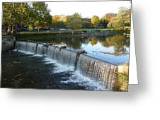 Water Over The Dam Greeting Card