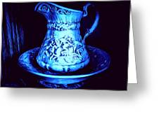 Water Pitcher And Bowl Still Life Greeting Card