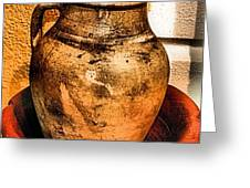 Water Pitcher Greeting Card by Jimmy Ostgard