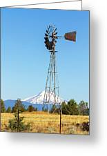 Water Pump Windmill In Central Oregon Farm Greeting Card