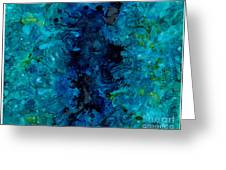 Water Ravine Greeting Card