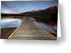 Water Reflections At Pyramid Lake Greeting Card