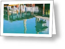 Water Reflections Of Morro Bay  Dock Greeting Card
