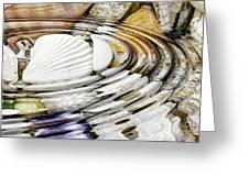 Water Ripples Above Sea Shells Greeting Card