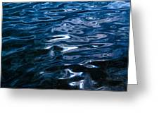 Water Ripples On Surface Greeting Card