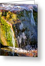 Water Running Over Rocks Greeting Card