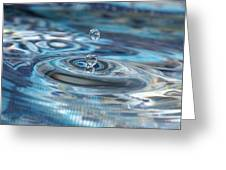 Water Sculpture In Blue 1 Greeting Card