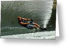 Water Skiing Magic Of Water 11 Greeting Card