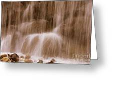 Water Softly Falling Greeting Card