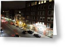 Water Street Looking South From The Marshall Building Greeting Card
