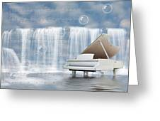 Water Synphony For Piano Greeting Card