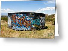 Water Tank Graffiti Greeting Card