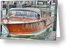 Water Taxi Italy Greeting Card
