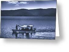 Water Taxi - Lago De Coatepeque - El Salvador Greeting Card