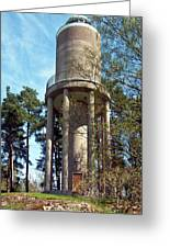 Water Tower In Malmi Cemetery Greeting Card