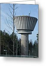 Water Tower Of Lohja  Station Greeting Card