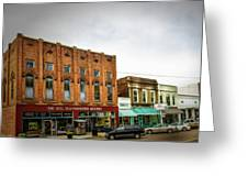 Water Valley Business District Greeting Card by Barry Jones