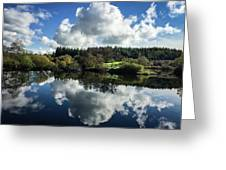 Water Vapour On A Mirror Greeting Card