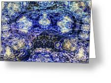 Water Vibration Greeting Card