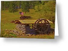 Water Wheel House Greeting Card