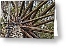 Water Wheel In The Fall Greeting Card