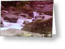 Water Winding Through Rocks Greeting Card