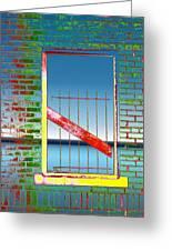 Water Window 2 Greeting Card