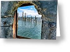 Water Window Greeting Card