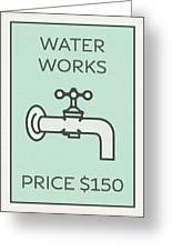 Water works vintage monopoly board game theme card mixed media by water works vintage monopoly board game theme card greeting card bookmarktalkfo Choice Image