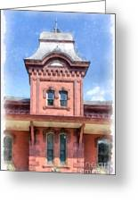 Waterbury Vermont Train Station Greeting Card