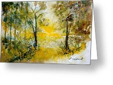 Watercolor 210108 Greeting Card by Pol Ledent