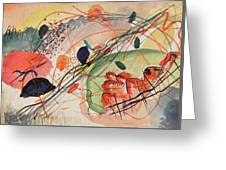 Watercolor 6 Wassily Kandinsky, 1911 Greeting Card