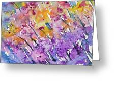 Watercolor - Abstract Flower Garden Greeting Card