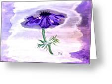 Watercolor Anomone Greeting Card