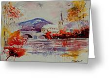 Watercolor Anseremme Greeting Card