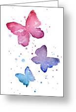 Watercolor Butterflies Greeting Card