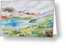 Watercolor - Colorado Alpine Landscape Greeting Card