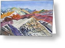 Watercolor - Colorado Elk Range View Greeting Card
