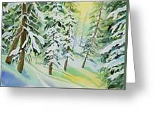 Watercolor - Colorado Winter Tranquility Greeting Card