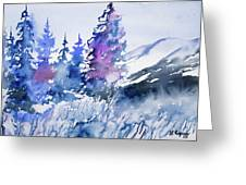 Watercolor - Colorado Winter Wonderland Greeting Card