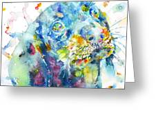 Watercolor Dachshund Greeting Card