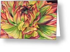 Watercolor Dahlia Greeting Card