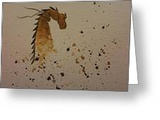 Watercolor Dragon Greeting Card by Ginny Youngblood