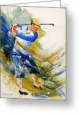 Watercolor  Golf Player Greeting Card